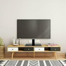TV Stand Base with Mount Swivel Height Adjustable for Flat S