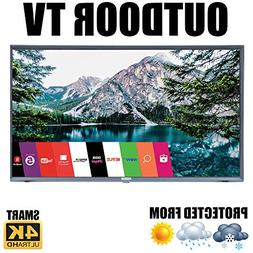 "Outdoor TV Full Weatherized 43"" UHD Smart Weatherproof LED T"