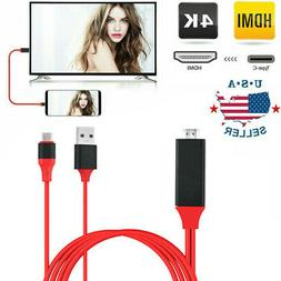 USB-C Type C to HDMI HDTV TV Cable Adapter Fit For Samsung G