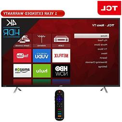 TCL 55-Inch 4K Ultra HD Roku Smart LED TV 2017 Model  + 1 Ye