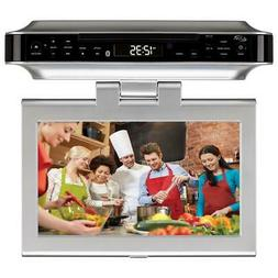 iLive Under Cabinet TV/FM/CD/Bluetooth/DVD Player with 10-in
