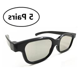 5 Pairs of Universal Passive 3D Glasses for all Passive 3D T