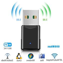 USB Wifi Adapter,Wireless Network Adapter/Dongle,Dual Band 2