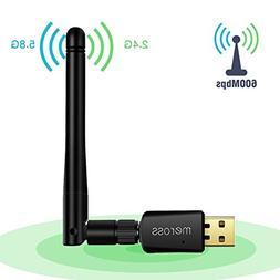Meross 600Mbps USB Wifi Adapter, Dual Band  802.11 a/b/g/n/a