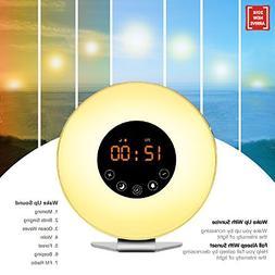 Wake Up Light Alarm Clock Sunrise Simulation Digital Alarm