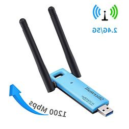 Slicemall USB Wifi Adapter 1200Mbps Wireless Adapter Network