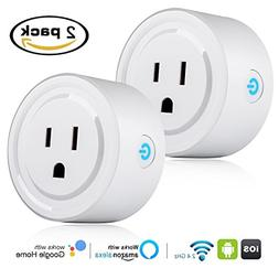 Pack of 2 Wifi Smart Plug Socket Outlet, Beinhome Mini Wirel