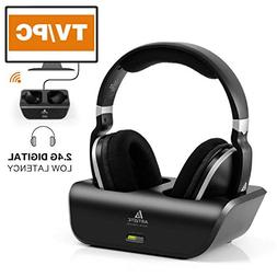 Wireless Headphones for TV with RF Transmitter For Netflix H
