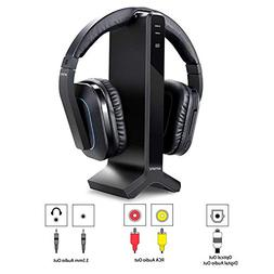 Wireless Stereo TV Headphone with 2.4GHz RF Transmitter Char