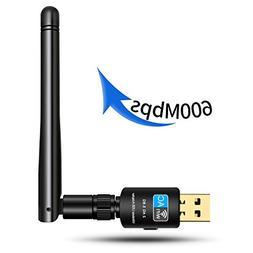 Wsky Wireless USB Wifi Adapter - Newest WPS Secure Tech - 60