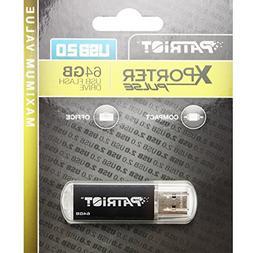 Patriot XPORTER Pulse 64GB USB 2.0 Flash Drive